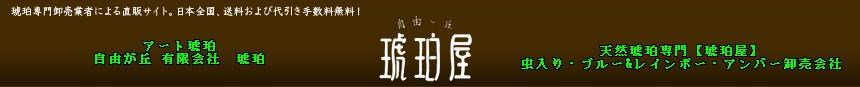天然琥珀専門卸売メーカー「(有)琥珀」による直販サイト。日本全国、送料および代引き手数料無料!アート琥珀・自由が丘 「琥珀屋」