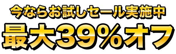 今ならお試しセール実施中!最大39%オフ!