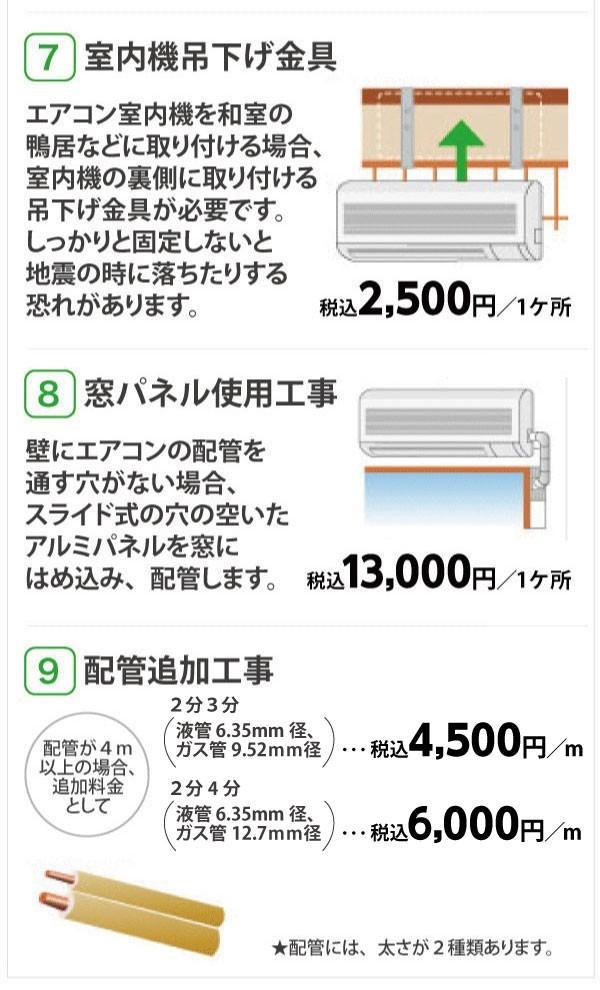 エアコン 取り付け 値段