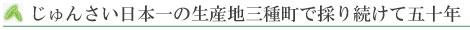 じゅんさい日本一の生産地三種町で採り続けて五十年
