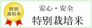 安心・安全 特別栽培米