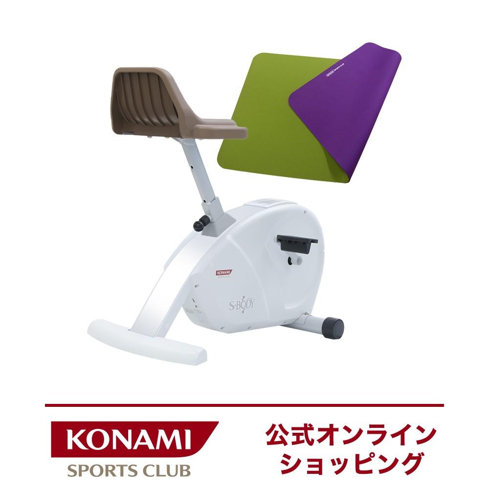 家電健康家電フィットネスバイク コナミスポーツクラブ エアロバイク S-BODY (組立品・Bluetooth付)マット付