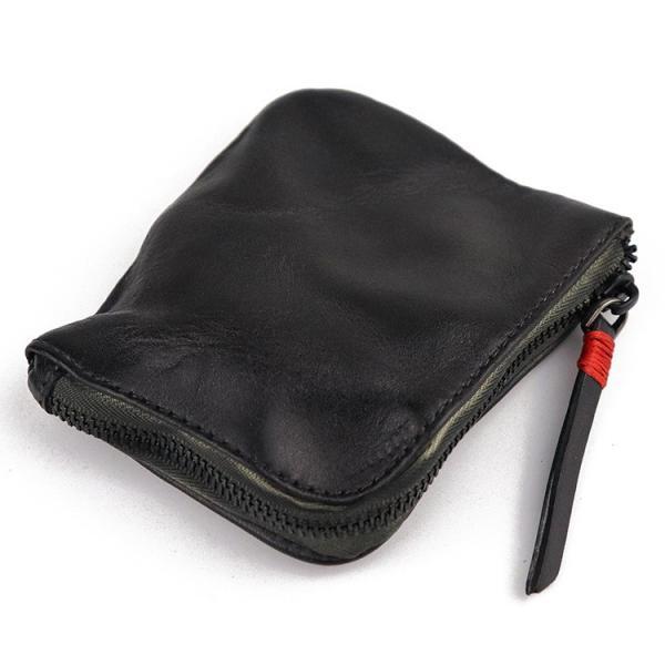 小銭入れ コインケース メンズ 財布 本革 L字ファスナー レザー 薄型|konkonya27|12