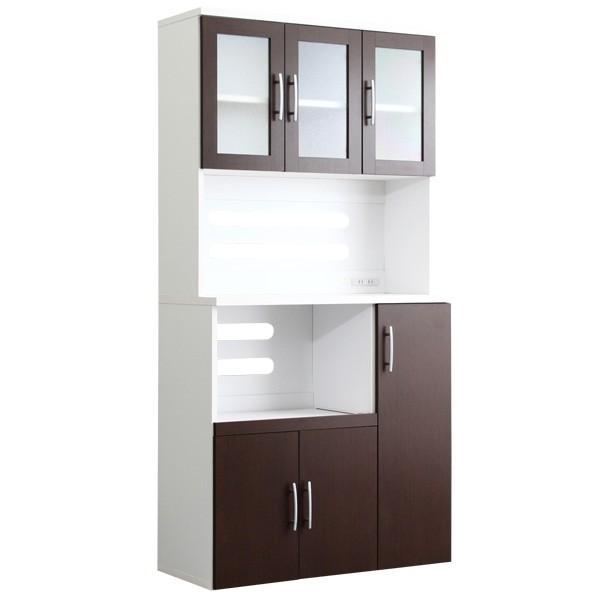 食器棚 ツートーン (パスタキッチンボード)(幅90cm×高さ180cmタイプ)|koreene|17