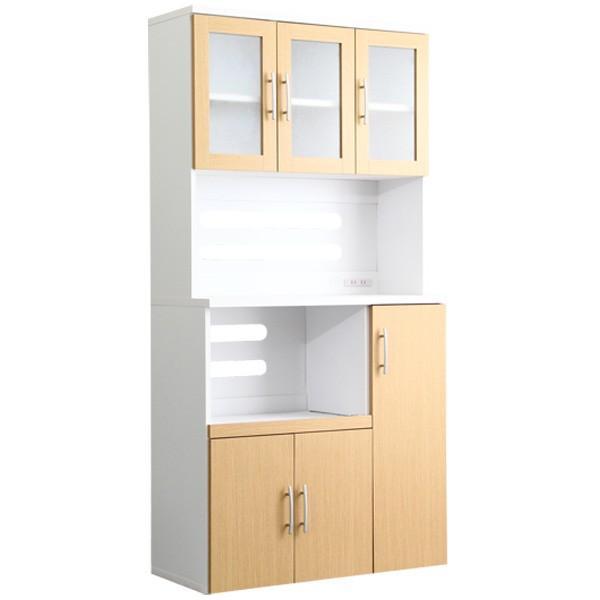 食器棚 ツートーン (パスタキッチンボード)(幅90cm×高さ180cmタイプ)|koreene|16