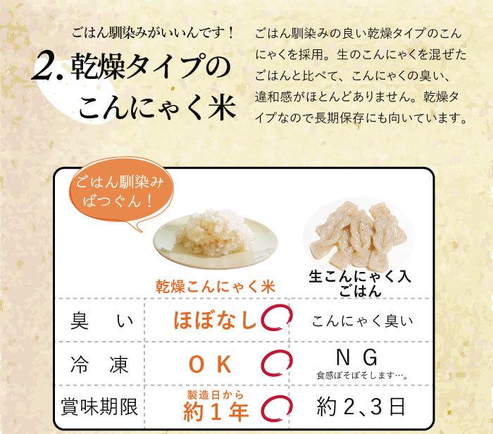 乾燥タイプのこんにゃく米