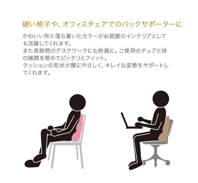 MOGUプレミアムバックサポーターエイト 硬い椅子やオフィスチェアでのバックサポーターに