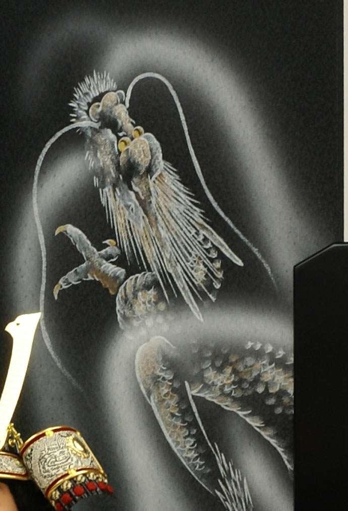 五月人形 五月節句飾り 平飾り 武者人形 子供大将 (鎧姿) 人形工房天祥オリジナル 五月人形・健ちゃんシリーズ 「健 (鎧着・褄取)」 (正絹糸縅仕立)画像11