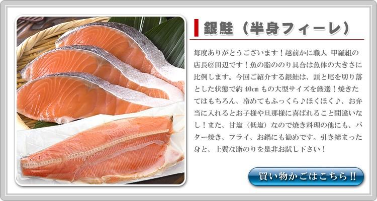 銀鮭半身1kg