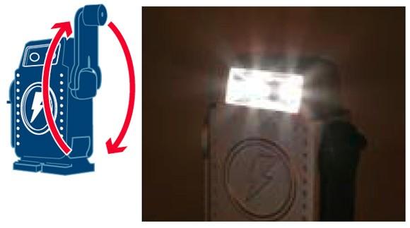 DULTON ダルトン LEDライト キーホルダー 小型ライト バッテリーフリーL.E.D.(ロボット) Battery free L.E.D. (Robot) フラッシュライト DC11-H58 1