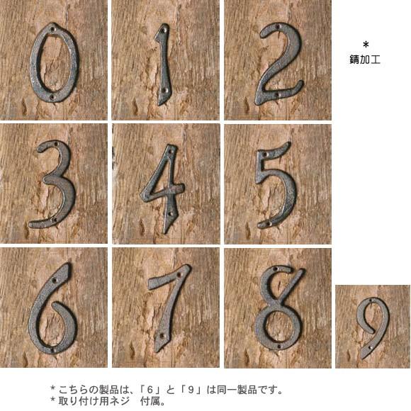 アイアンナンバー 数字 番地 ドアサイン 表札 1
