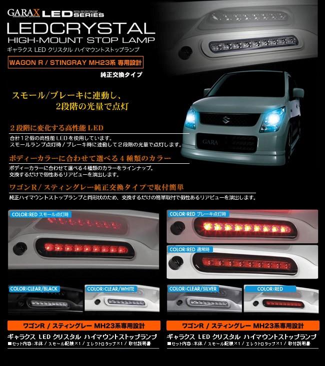 スモールランプ/ブレーキランプ点灯時に連動し、2段階の光量で点灯
