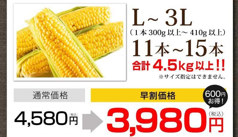 2L?3L、11本?13本。早割3,980円