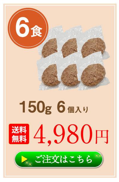 ハンバーグ6食