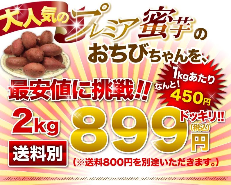 大人気のプレミア蜜芋のおちびちゃんを、最安値に挑戦!!899円