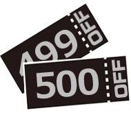 500円クーポン、501円クーポン向け