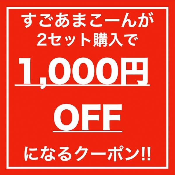 『すごあまこーん』2セット購入で使える1,000円OFFクーポン