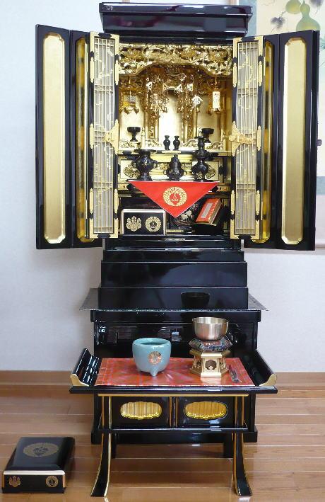 【金仏壇】【小型仏壇】金椿(西・東)