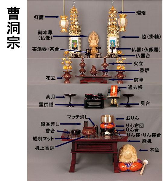 曹洞宗の仏具並べ方