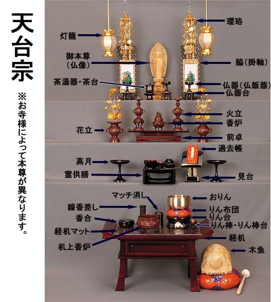 天台宗の仏具並べ方