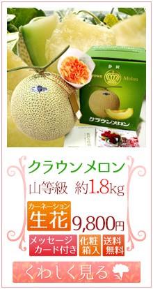 クラウンメロン1玉&生花
