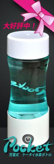 充電式 ケータイ 水素水ボトル ポケット 水素水生成器  豪華プレゼント付き