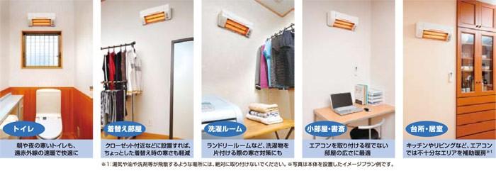 高須産業 涼風暖房機 SDG-1200GS設置例2
