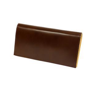 コードバン 長財布 FRUH(フリュー)スマートロングウォレット‐日本製 馬革 ヌメ革 薄い 財布 革財布 メンズ GL021|kurazo|08