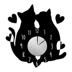 ウォール クロック ステッカー‐時計 壁掛け シール 壁紙 ウォールステッカー 猫 ねこ キャット Wall Clock Sticker kurazo 19