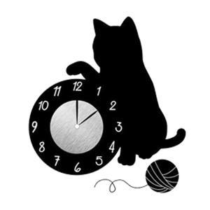 ウォール クロック ステッカー‐時計 壁掛け シール 壁紙 ウォールステッカー 猫 ねこ キャット Wall Clock Sticker kurazo 20