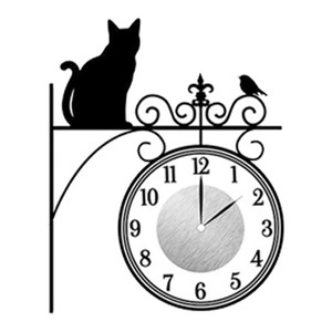 ウォール クロック ステッカー‐時計 壁掛け シール 壁紙 ウォールステッカー 猫 ねこ キャット Wall Clock Sticker kurazo 22