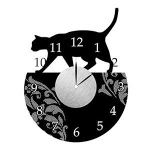 ウォール クロック ステッカー‐時計 壁掛け シール 壁紙 ウォールステッカー 猫 ねこ キャット Wall Clock Sticker kurazo 21