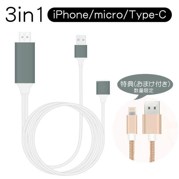 Lightning  HDMI 変換ケーブル Lightning Digital AV to HDMI 1080Pアダプタ iphone 映像出力ケーブル 設定不要 音声同期出力|kuri-store|24