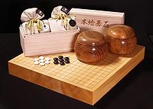 碁石+碁笥+碁盤 囲碁3点セット