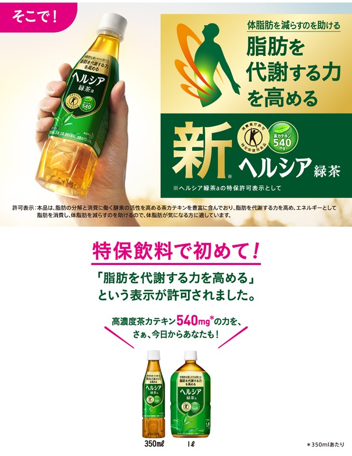 新ヘルシア緑茶