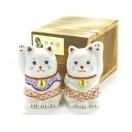 九谷焼-招き猫 kutani Beckoning