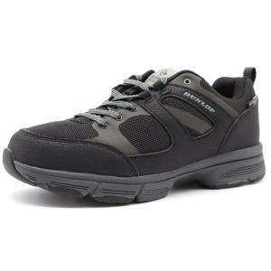 スニーカー レディース 靴 黒 ブラック 防水 クッション 軽量 軽い 反射材 屈曲性 ガセット ダンロップ DUNLOP DCX51|靴のニシムラ PayPayモール店