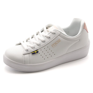 スニーカー レディース キッズ 子供 靴 白 ホワイト 軽量 軽い シンプル 通学 学校 通勤 プレプラ モズ moz MZ-902|靴のニシムラ PayPayモール店
