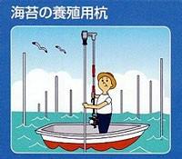 海での養殖用の杭打ちにも