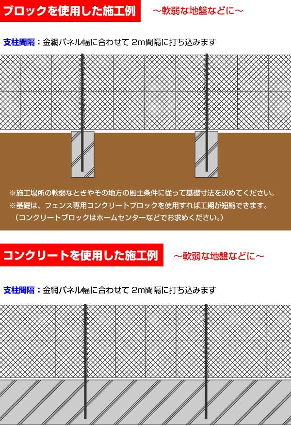 ブロックを使用した施工例