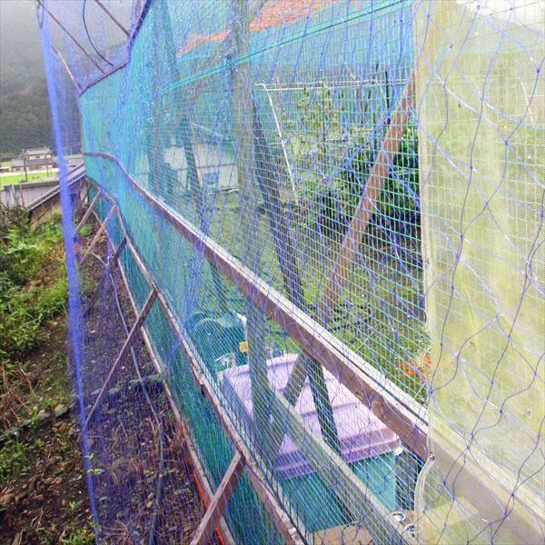 猿が登りにくい柔らかいネットです