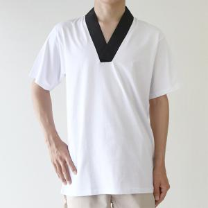 (Tシャツ半襦袢 中) KYOETSU キョウエツ 半襦袢 男性 洗える メンズ 襦袢 男 和装 着物 下着|京越卸屋 PayPayモール店