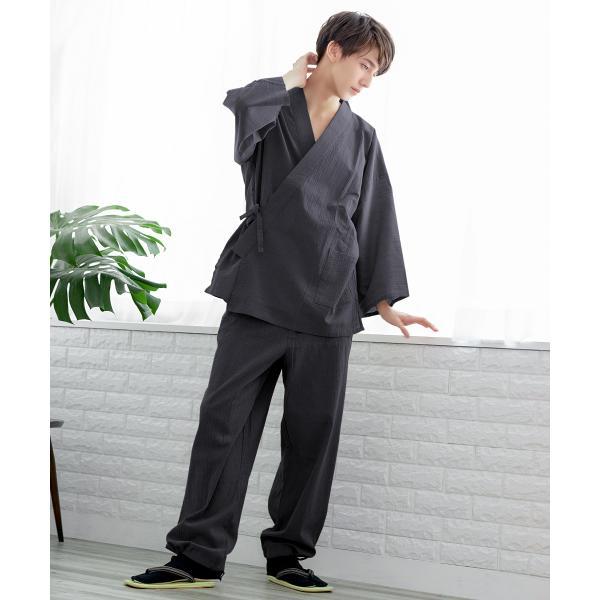 (楊柳作務衣 14) 作務衣 夏用 男性 メンズ 3colors さむえ おしゃれ 父の日 大きいサイズ M/L/LL/3L/4L/5L kyoetsuorosiya 06