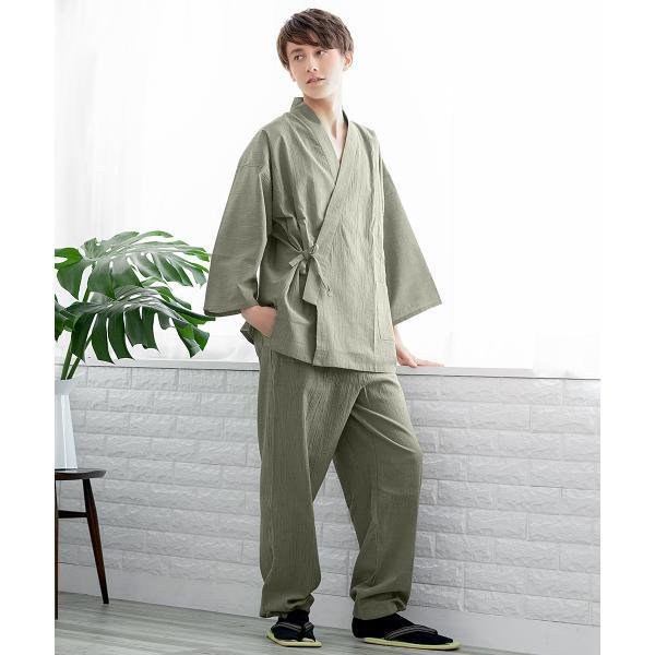 (楊柳作務衣 14) 作務衣 夏用 男性 メンズ 3colors さむえ おしゃれ 父の日 大きいサイズ M/L/LL/3L/4L/5L kyoetsuorosiya 08