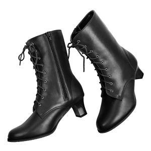 (卒業式 袴ブーツ) 袴 ブーツ 編み上げ 2color 9ホール レディース 袴用 女性 レースアップ 厚底 コスプレ 編み上げブーツ (rg)|京越卸屋 PayPayモール店