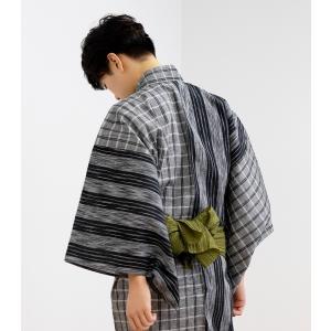 (浴衣4点セット R 切替) 浴衣 メンズ セット 安い (浴衣/帯/下駄/腰紐) M/L/LL/3L(NB)|京越卸屋 PayPayモール店