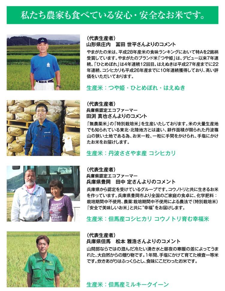私達農家も食べている安心安全なお米一等米