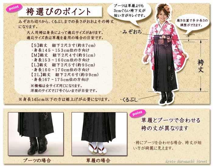 袴丈と適応身長