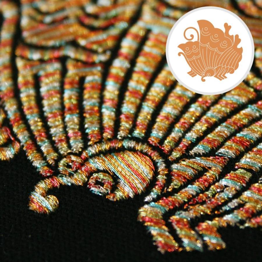 送料無料 インテリア刺繍額 彩-irodori- 動物 日本柄 和柄 刺繍 色糸刺繍 お守りに 還暦祝い/結婚祝い/贈り物/特別な贈り物に kyoto-sankyo 19