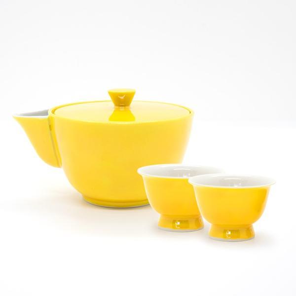 お中元 高島慎一 洸春窯 清水焼 京都 交趾 宝瓶 黄色 緑色 煎茶碗 陶器|kyotomarche|10